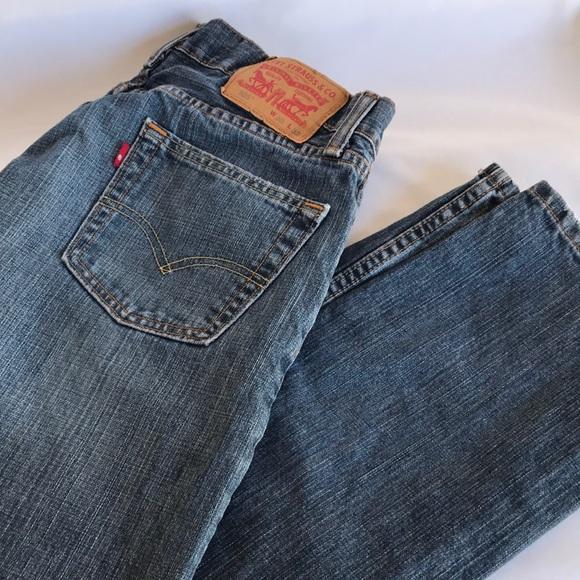 Levi's 505 red tab straight leg jeans, 30 x 32